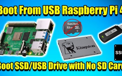 How To Boot From USB Raspberry Pi 4! NO SD CARD! Boot from SSD,USB Drive