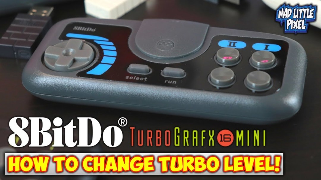 How To Change Turbo On 8Bitdo TurboGrafx-16 Mini 2.4G Controllers!