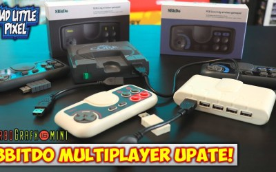 TurboGrafx-16Mini 8Bitdo 2.4G Controllers With USB Extensions Test! Use 5 Controllers!
