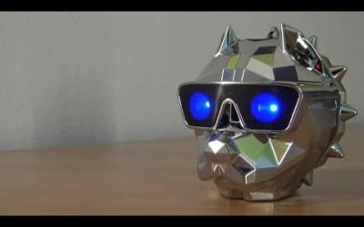Bluetooth Chrome Polygon Dog Wireless Bluetooth Speaker 😎