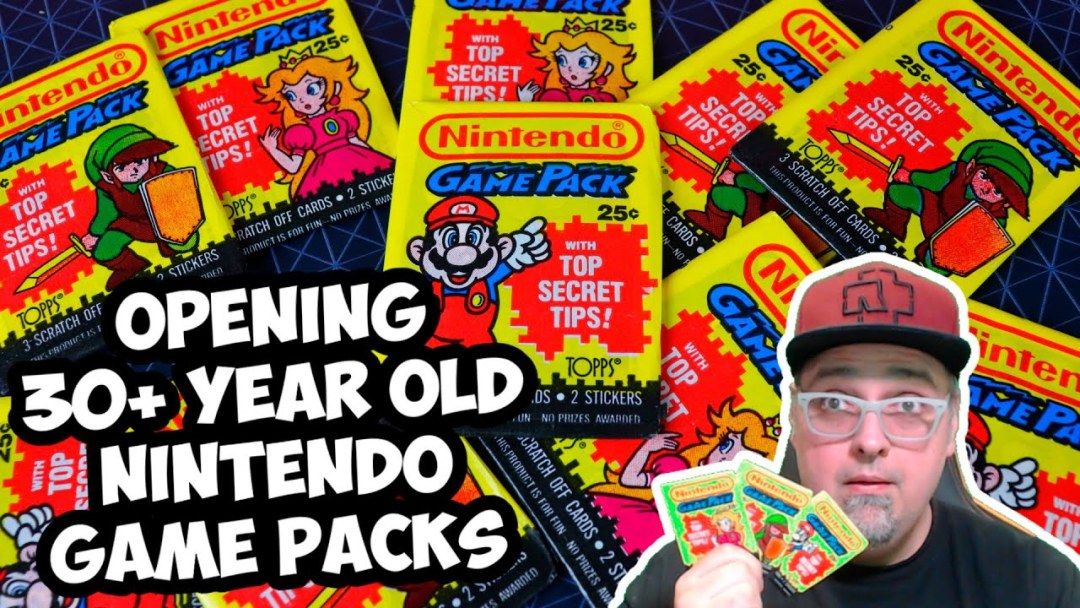 Opening 30 Year Old Topps Nintendo Game Pack Cards With Top Secret Tips! Retro Nintendo Collectibles