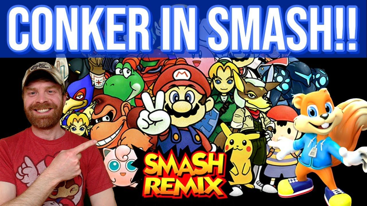 Smash Remix: Play as Conker in Super Smash Bros 64