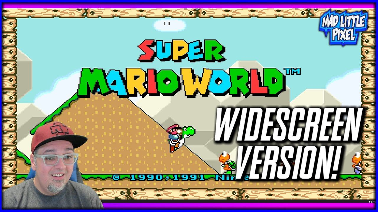 If Super Mario World Was Released In 2021! SMW Widescreen Version!