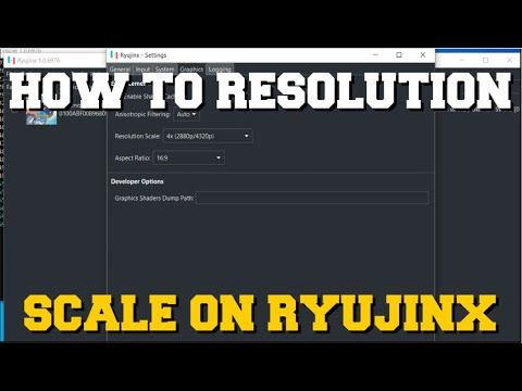 HOW TO RESOLUTION SCALE ON RYUJINX EMULATOR (HOW TO PLAY GAMES IN 4K RESOLUTION)
