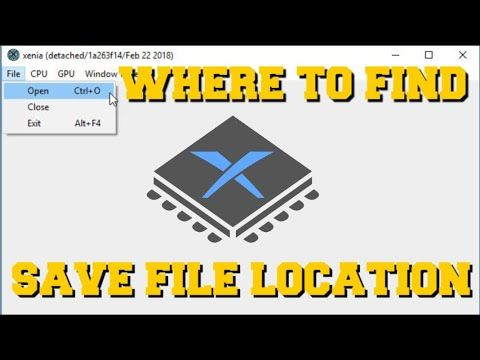 XENIA EMULATOR WHERE TO FIND SAVE FILE LOCATION (HOW TO SAVE STATE) (HOW TO SAVE)