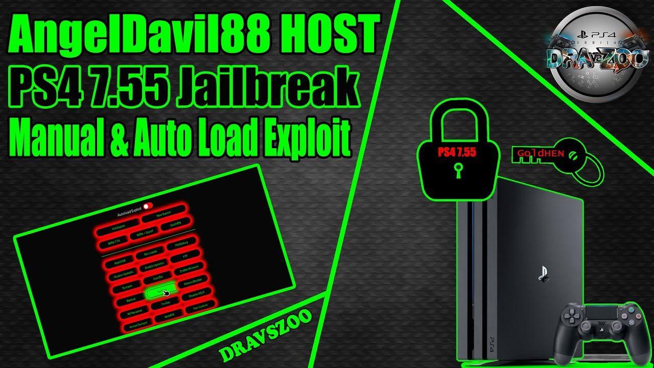 PS4 7.55 Jailbreak AngelDavil88 HOST | Manual & Auto Load Exploit | GoldHEN
