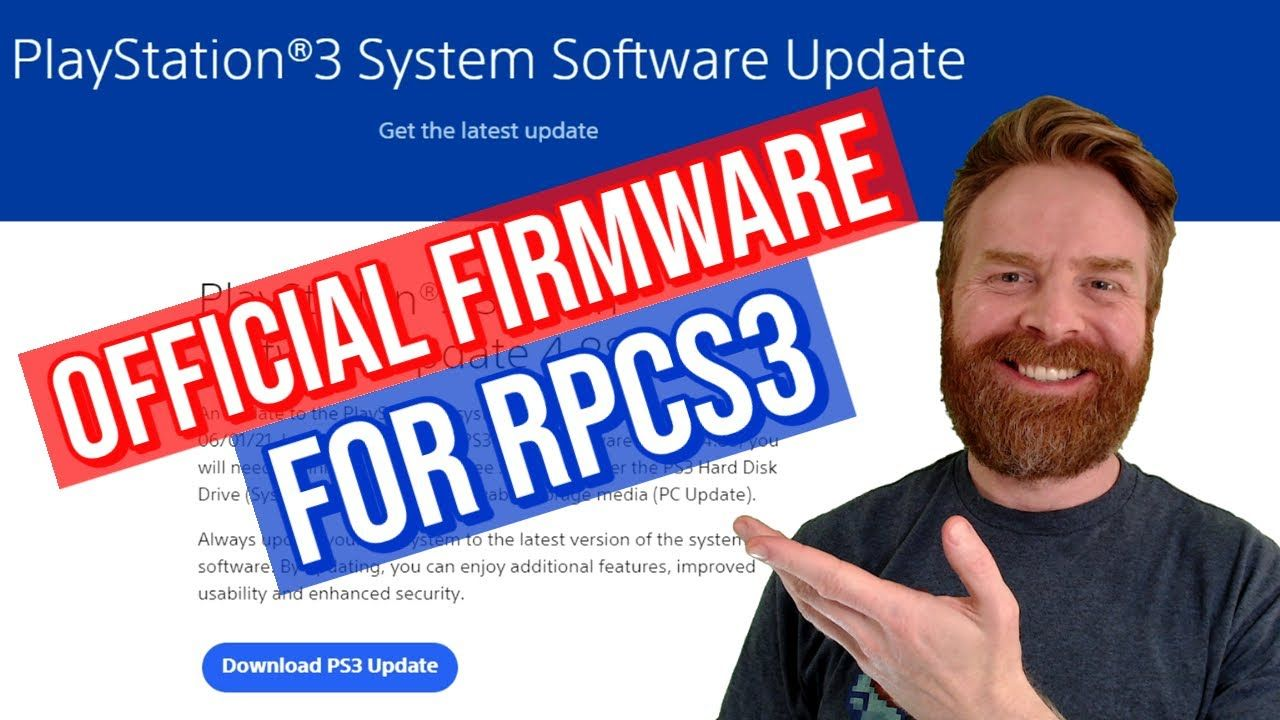 How to download PS3 Firmware for RPCS3 Emulation