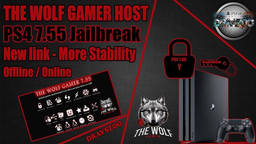 PS4 Jailbreak 7.55 The Wolf Gamer HOST   TEST   New link   Offline / Online   More Stability