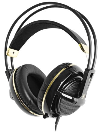 SteelSeries Siberia V2 Full Size Headset with Microphone black and gold
