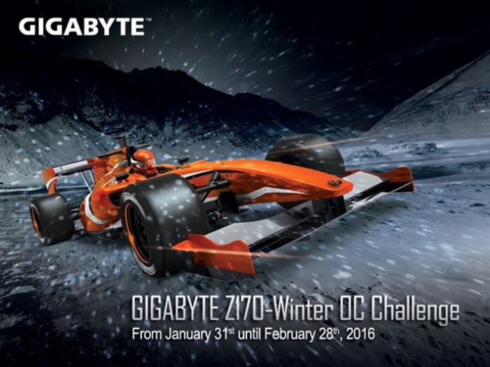 GIGABYTE Launches the Z170 Winter OC Challenge