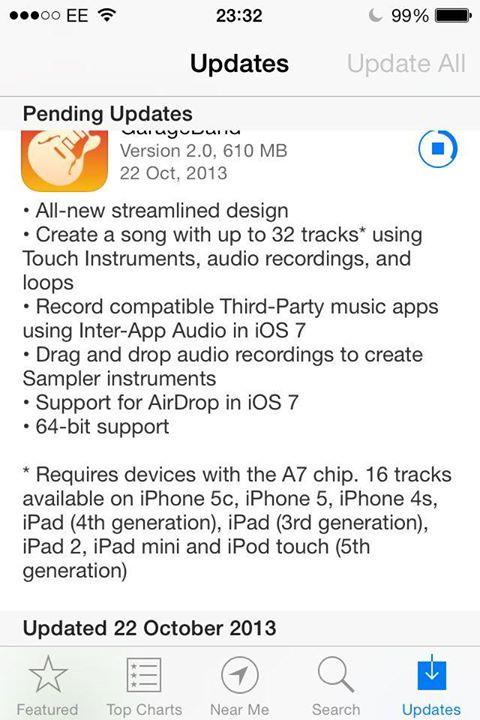 Garageband 2.0 iOS Update