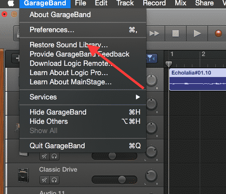 Could not find layout General Audio 10