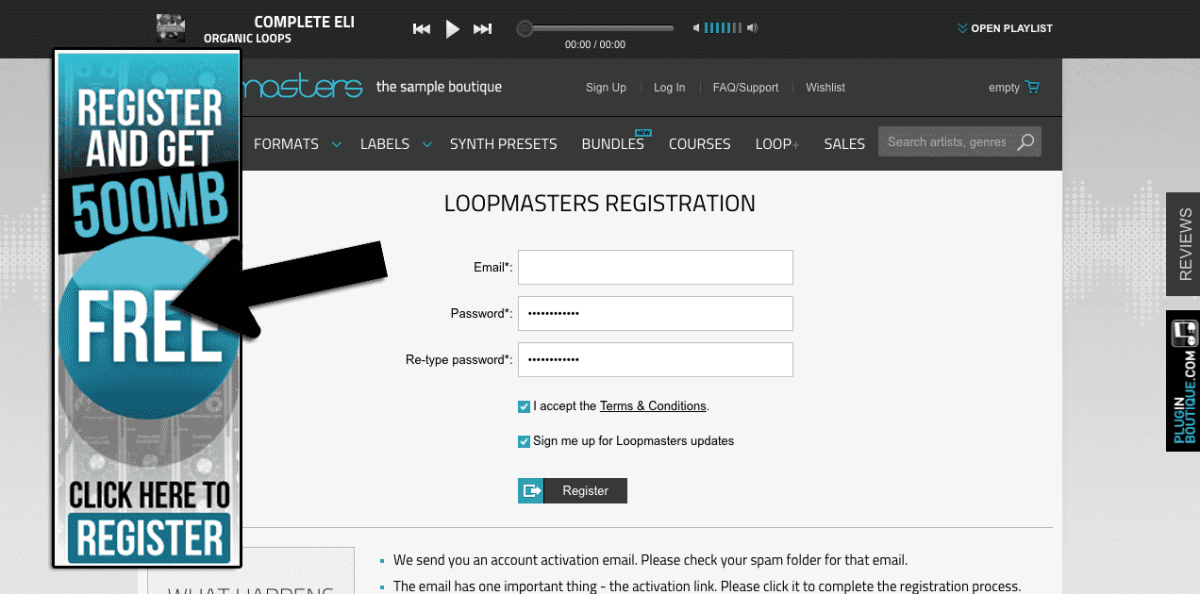 Looppmasters sign up