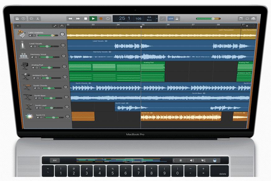 GarageBand 10.2 Touch pad