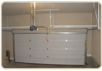 Overhead Garage Storage Racks Two Car Layout High Ceilings Image