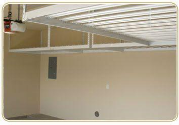 Overhead Garage Storage Racks One Car Layout High Ceilings