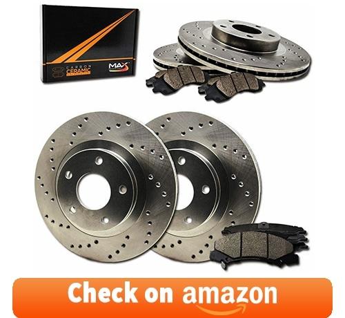 Max Brakes Premium Slotted Drilled Rotors w/Ceramic Brake Pads review