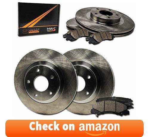 Max Brakes OE Series Rotors w/Ceramic Brake Pads Front + Rear Premium Brake Kit review