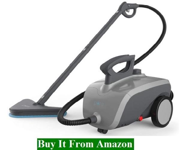 Pure Enrichment PureClean XL Rolling Steam Cleaner – 1500-Watt