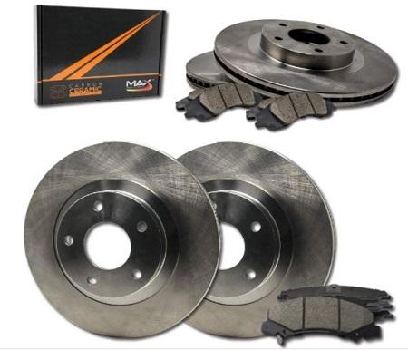Max Brakes Premium OE Rotors with Carbon Ceramic Pads KT034943