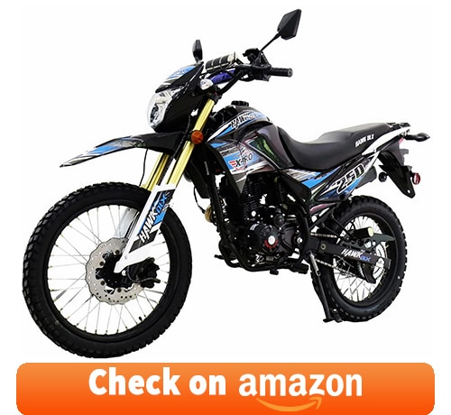 X-Pro Hawk DLX 250: one of the Best 4 Stroke Dirt Bikes for Trail Riding