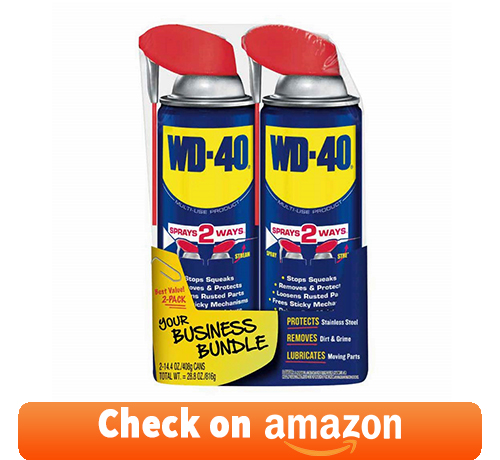 WD-40 - 490224 Multi-Use Product with SMART STRAW SPRAYS 2 WAYS, [2-Pack]: best penetrating oil for seized engine
