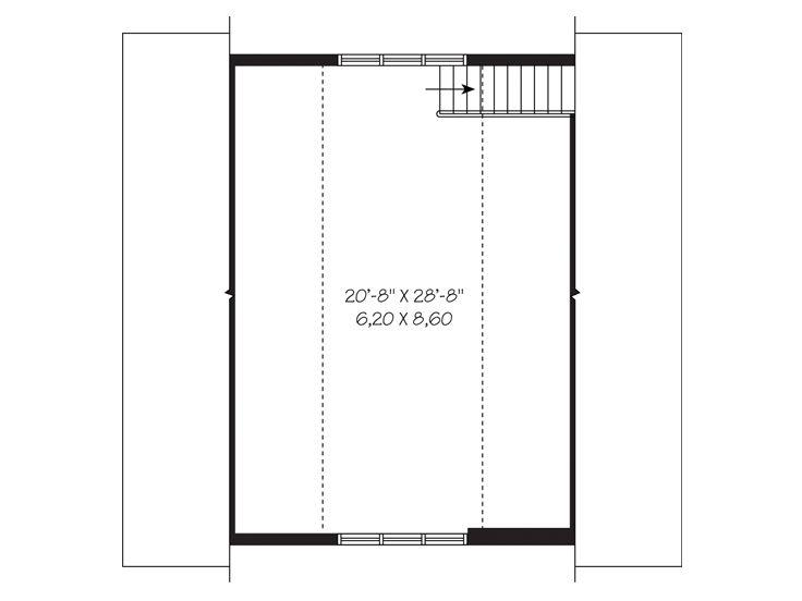 Three-Car Garage Loft Plan # 028G-0039