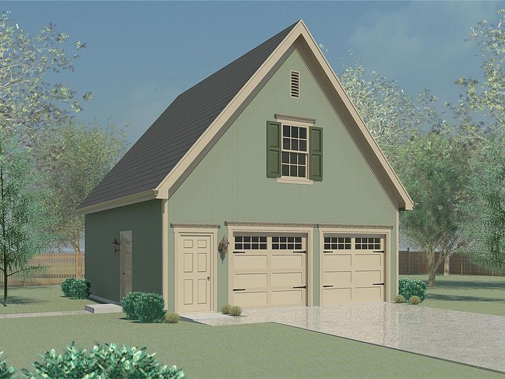 Two-Car Garage Plan With Storage