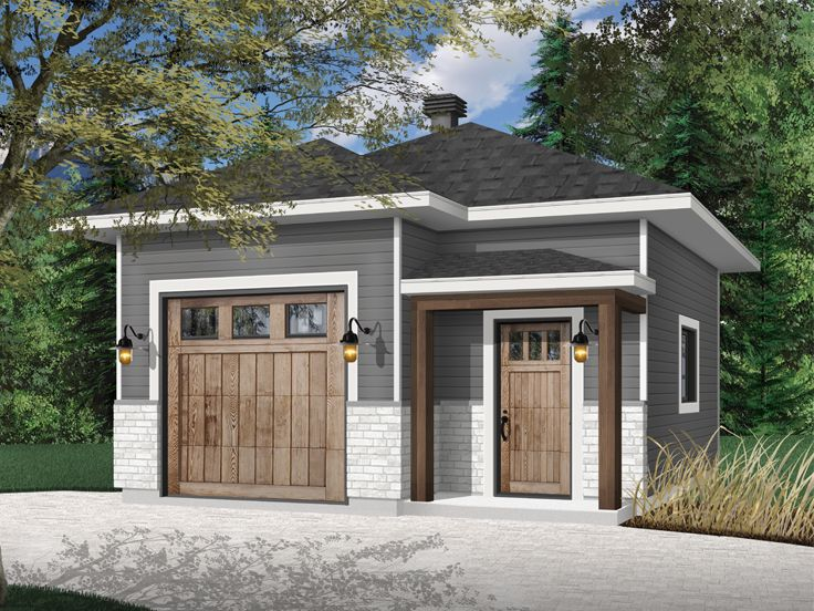 1-Car Garage Plan With Storage