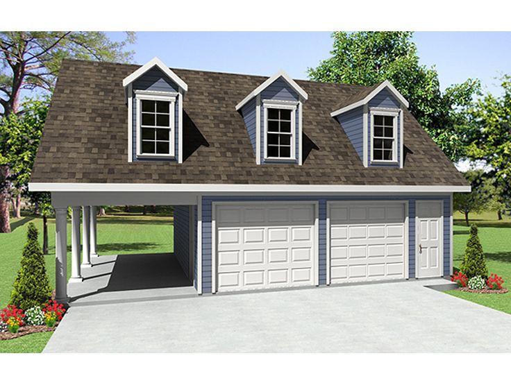 2-Car Garage Plan With Carport