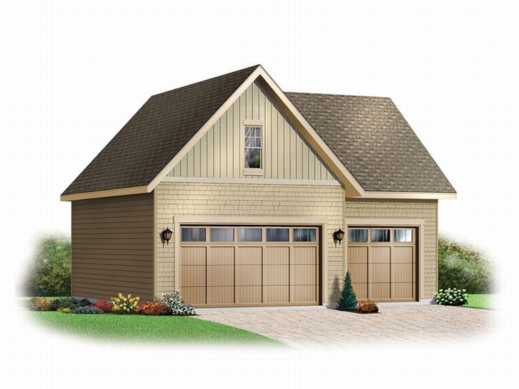 Three-Car Garage Loft Plan # 028G