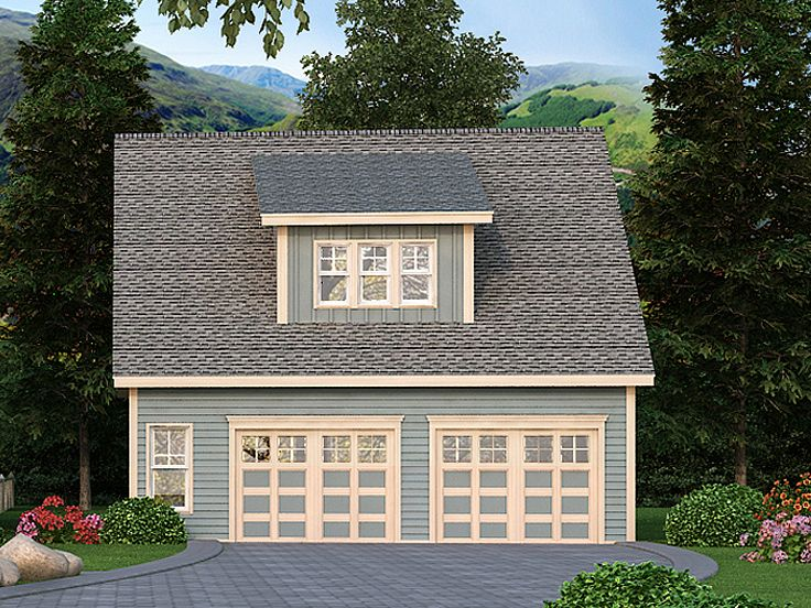 2-Car Garage Loft Plan Design #053G