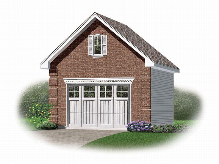 One-Car Garage Plan With Loft # 028G