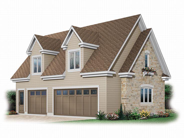 Three-Car Garage Loft Plan # 028G-0026