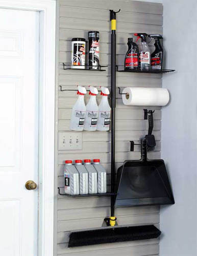 Slatwall Panel Pantry Organization