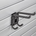 HandiWall Double Utility Hook with Lock on Slatwall Panels
