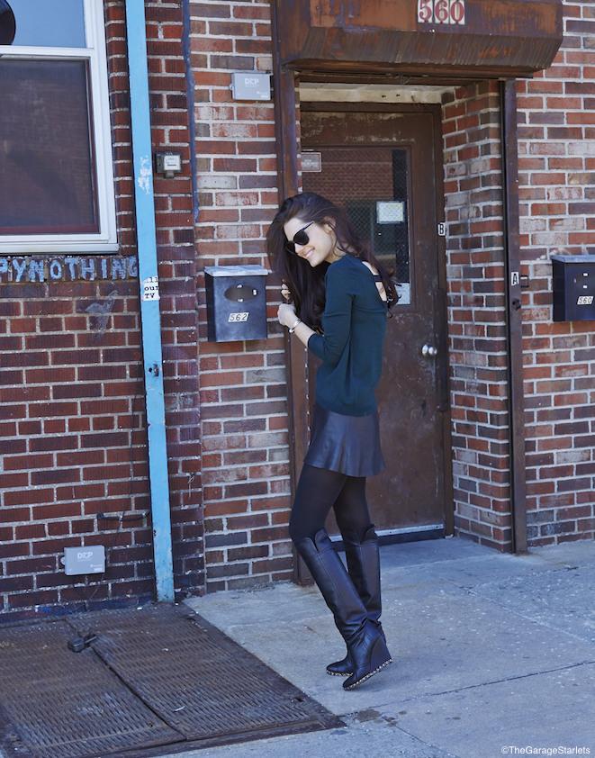 The_Garage_Starlets_Madlena_Kalinova_Leather_Skirt_Veda_Sandro_Chanel_Stella_McCartney_08