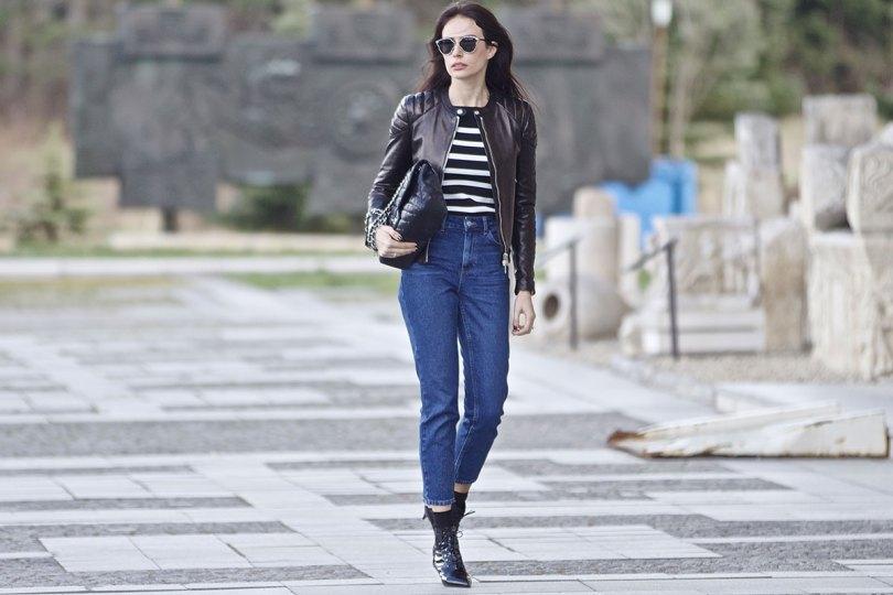 The_Garage_Starlets_Katia_Peneva_Popov_Gucci_Biker_Jacket_Zara_Topshop_Mom_Jeans_Chanel_Bag_Saint_Laurent_Ankle_Boots_Christian_Dior_Sunnglasses_06