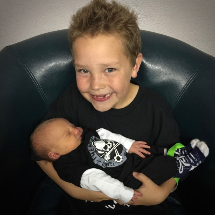 4/1/16: Big Brother Toby with Little Sister ReAnna Kay at her first ever concert. ReAnna has been rocking out at The Garage since before she was born :)