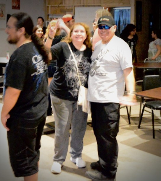 Rockers Connie and Marcos showing their love of music