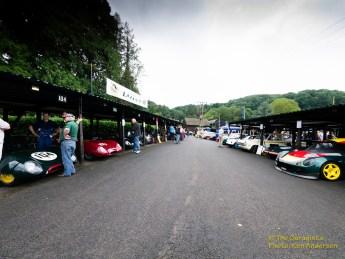 The paddock at Shelsley Walsh