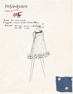 Yves Saint Laurent, Paris Fashion design (c.1970) Campbell-Pretty Fashion Research Collection National Gallery of Victoria, Melbourne