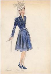 Jeanne Lanvin, Paris Fashion design (c.1940s) Campbell-Pretty Fashion Research Collection National Gallery of Victoria, Melbourne