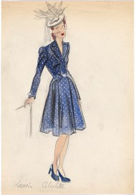 Jeanne Lanvin, Paris Fashion design (c.1940s) Campbell-Pretty Fashion Research Collection National Gallery of Victoria, Melbourne