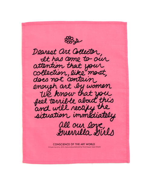 Guerrilla Girls products courtesy of Third Drawer Down