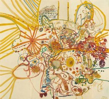 John Olsen born Australia 1928, lived in Europe 1956–60, 1965–67 Summer in the you beaut country 1962 oil on composition board (a-g) 393.4 x 431.0 cm (overall) National Gallery of Victoria, Melbourne Presented through The Art Foundation of Victoria by Mr Frank McDonald, Fellow, 1978 © John Olsen, administered by Viscopy, Sydney