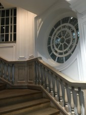 The central spiral staircase takes you around and up to explore every floor.