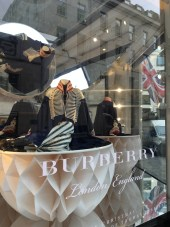 Turntable window displays at Burberry