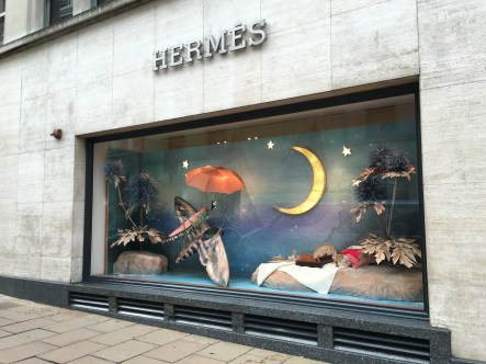 Luxe Hermes Christmas windows