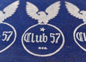 Club 57 logo, designed by Stanley Strychacki. Photograph by John Harris